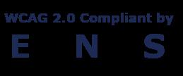 WCAG 2.0 Compliant by ENS logo